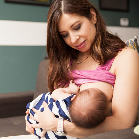 breastfeeding mother and baby